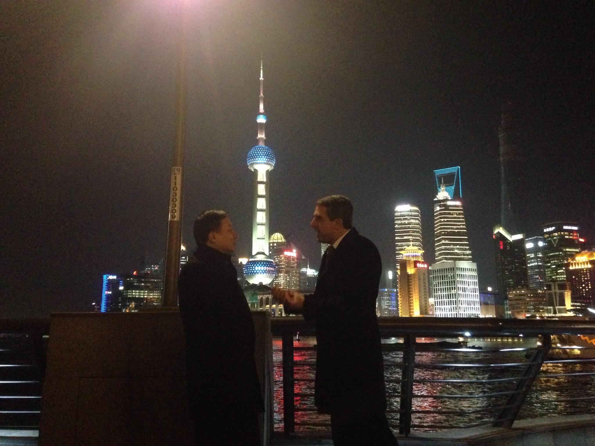 Среща с кмета на Шанхай