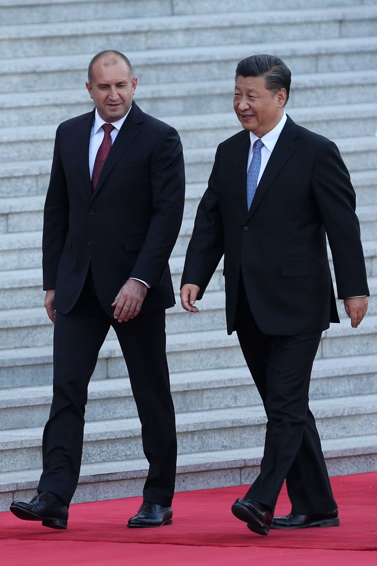 President Xi Jinping holds a welcoming ceremony for Bulgarian President Rumen Radev