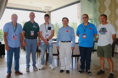 驻保加利亚大使董晓军出席观看国际乒联保加利亚公开赛